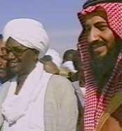 Ben Laden junto a Hassan-al-Turabi durante los años que vivió en Sudán.