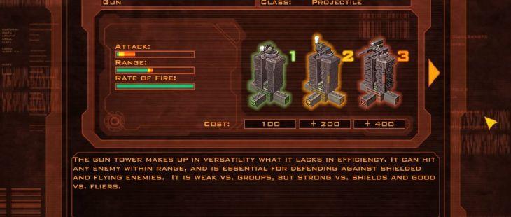 Defense Grid: The Awakening Windows  La enciclopedia contiene información sobre las torres disponibles para ti.