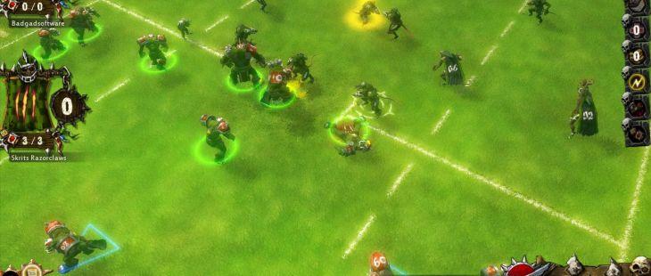 Blood Bowl Windows  modo de concentración le permite dar órdenes en tiempo real-modo.
