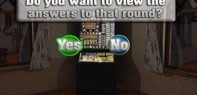 The Great British Pub Quiz 2 DVD Player  El juego no muestra las respuestas correctas al final de la ronda a menos que se indique específicamente que lo haga.
