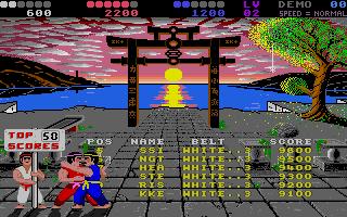 Chop N' Drop Atari ST  la tabla de puntuación alta