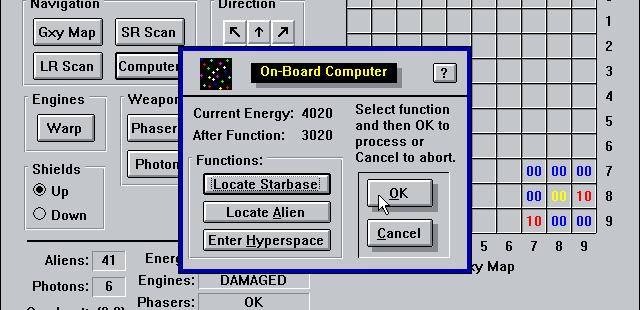 Stellar Explorer Windows 3.x  La computadora de a bordo puede ayudar pero hay un costo de energía