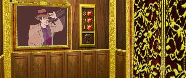 Archie Barrel - Case: Hotel Imperial Windows  Archie en el espejo del ascensor