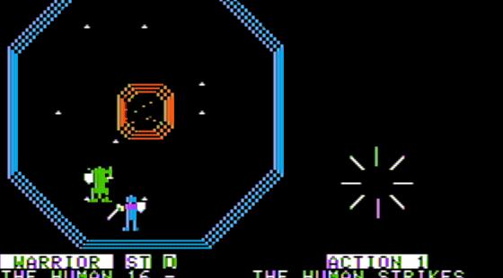 Arena of Octos Apple II  Golpeé al enemigo
