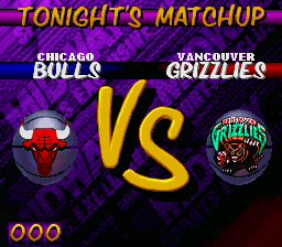 NBA Hangtime SNES  Bulls vs. Grizzlies