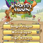 Puzzle de Harvest Moon Nintendo DS Menú principal