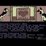 The Growing Pains of Adrian Mole Commodore 64  Tengo una tarjeta de San Valentín.
