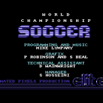 World Championship Soccer Commodore 64  Credits.
