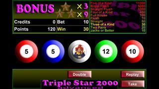 Triple Star 2000 Videopoker iPad Triple Star 2000 Videopoker_7