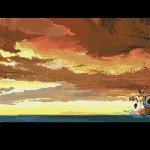 Project Neptune Amiga  luchando con patadas.