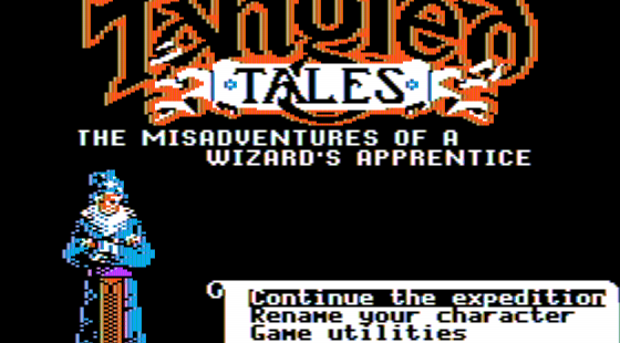 Tangled Tales Apple II Pantalla de título