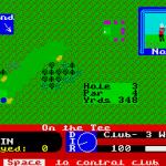 Pro Golf ZX Spectrum  Golpee este a la derecha en el centro.