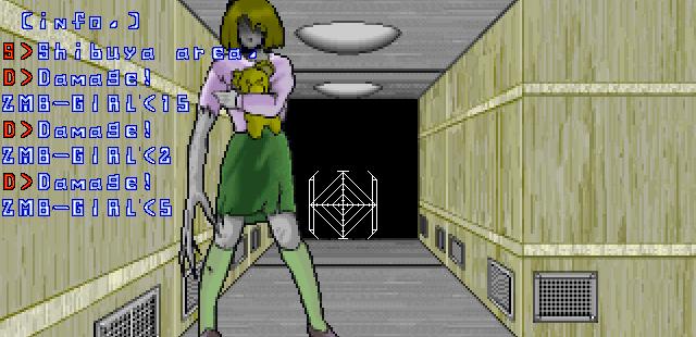 Rejection: Den-No Senshi FM Towns  Este enemigo es muy perturbador ... probablemente una joven que se convirtió en zombie ...