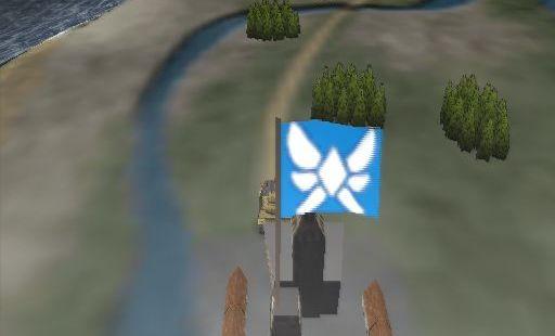 Seek and Destroy PlayStation 2  la misión dos comienza así. El jugador debe conducir su nuevo tanque a la bandera negra, allí el punto de vista cambia y una escena de corte se ejecuta la creación de la historia para la próxima batalla