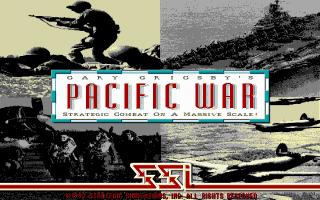 Gary Grigsby's Pacific War DOS Pantalla de título