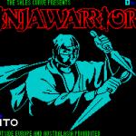 The Ninja Warriors ZX Spectrum  Esta pantalla se muestra mientras se carga el juego. Un temporizador de cuenta atrás en la parte superior derecha indica el progreso