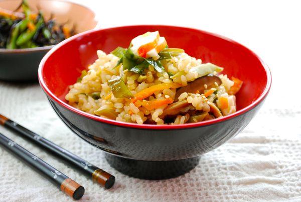 Arroz guisado con alga wakame Gohan Wakame receta japonesa  Pepekitchen