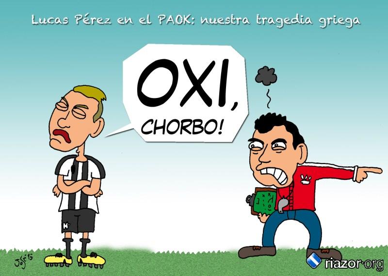 Viñeta Turka   Lucas Pérez PAOK