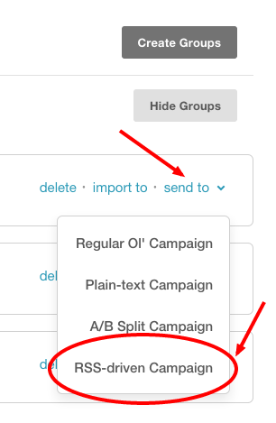 List Groups for MalagaBox MailChimp2