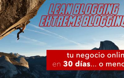 Lean Blogging: O como lanzar tu negocio y vender en 6 semanas