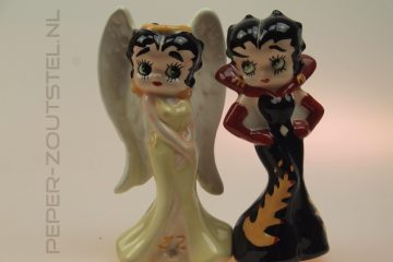 Betty-Boop-engel-en-duivel-animatie-figuren-peper-en-zoutstel