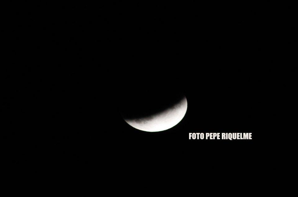 Eclipse lunar desde Alcantarilla Murcia el 16 de julio de 2019