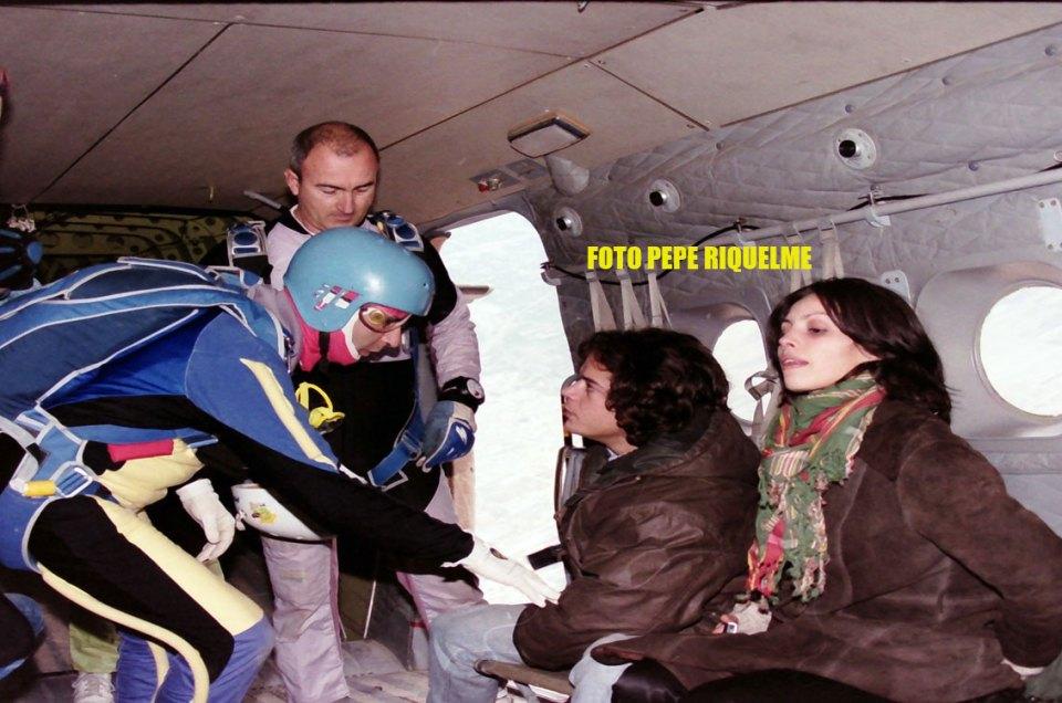 Jorge Sanz estuvo en Alcantarilla a 2000 metros sin paracaídas Ana Álvarez Ruth Gabriel Ángel Plaza