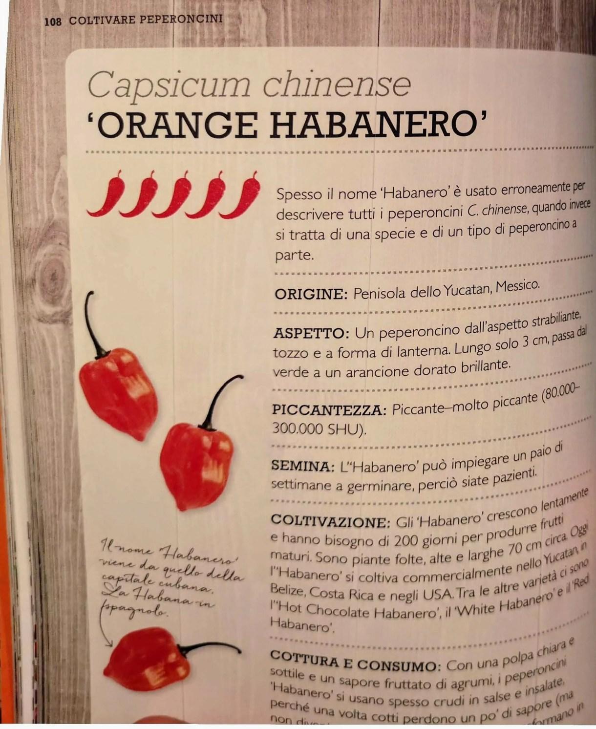 libro varietà peperoncini