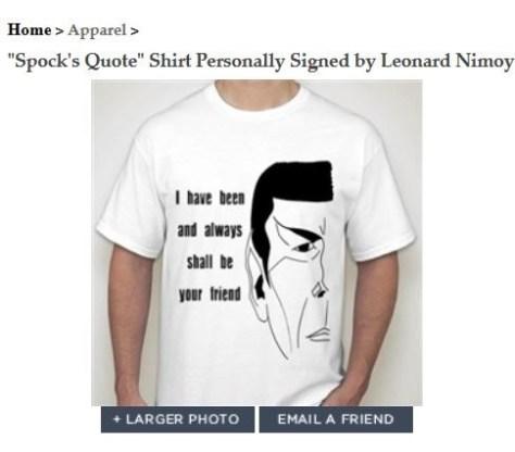 leonard Nimoy shirt