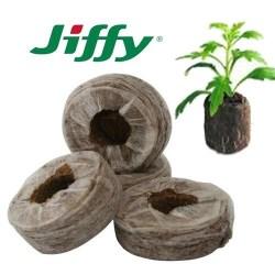 Pastilles de tourbe compressée marque Jiffy pour semis