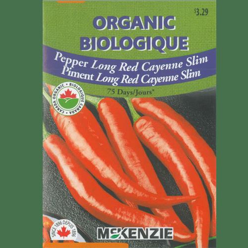 Semences piment long rouge cayenne slim McKenzie