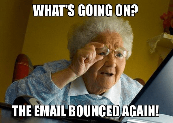 bounce notification email