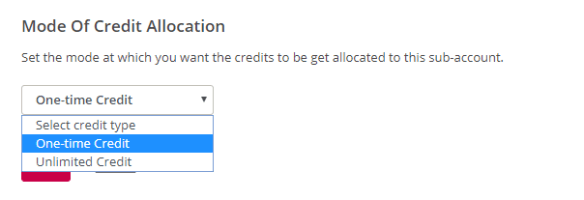 mode of credit allocation
