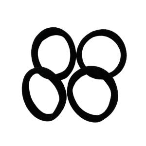 set de 4 gomas negras de poliamida