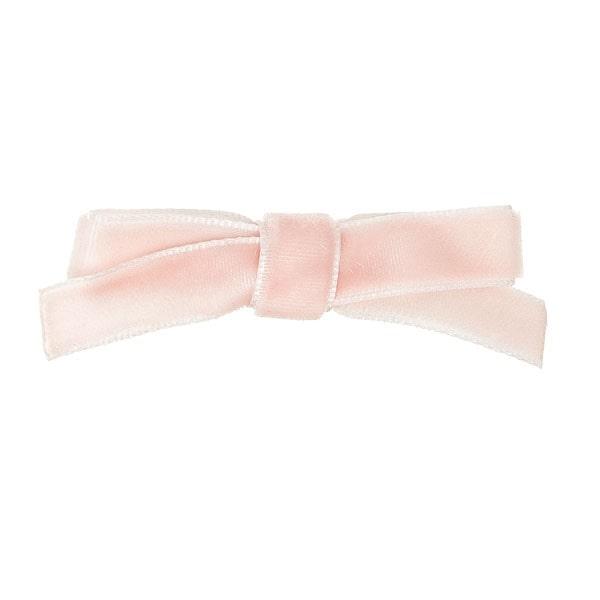 pinza terciopelo rosa bebé