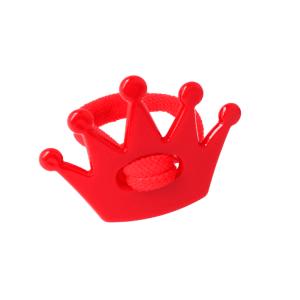 goma de pelo con corna rojo