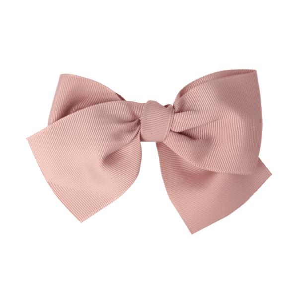 goma de pelo con lazo para niñas rosa francia