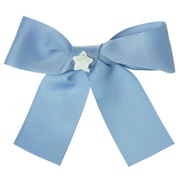 lazo pelo niñas azul francia
