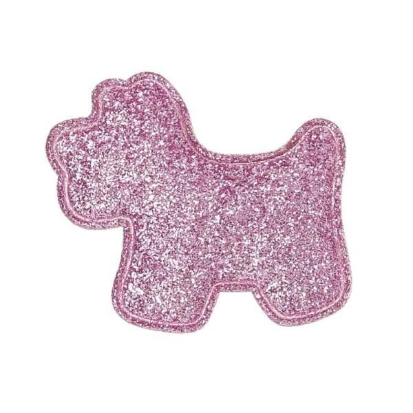 perrito glitter rosa