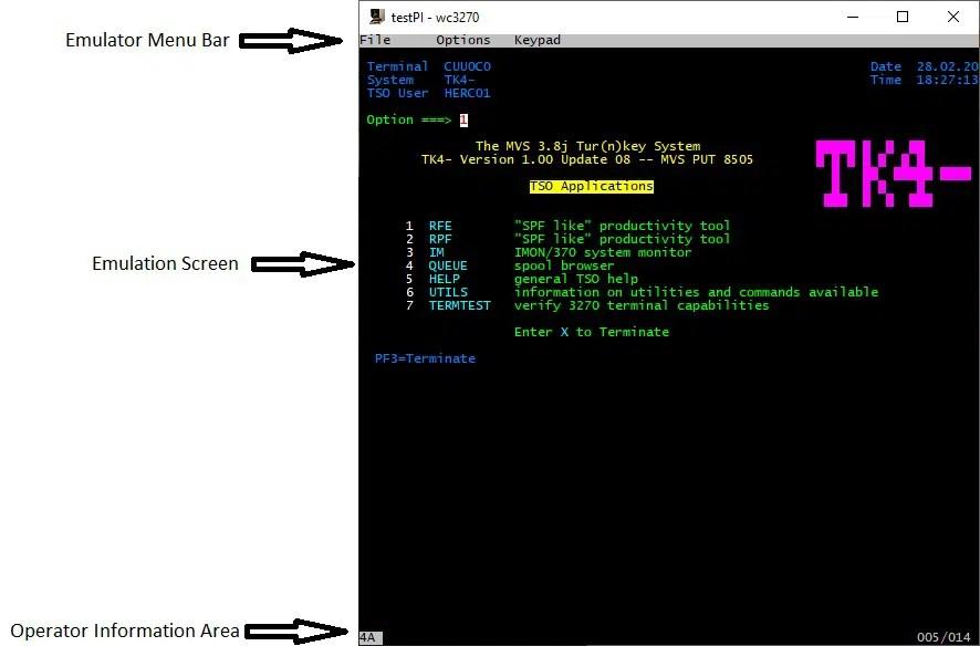 RPI MVS x3270 emulator parts