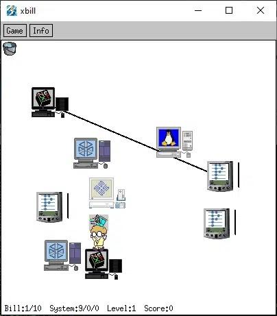 Xbill game screenshot