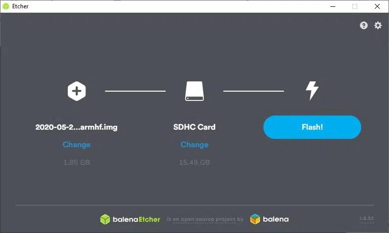Install Raspberry PI OS Buster Etcher
