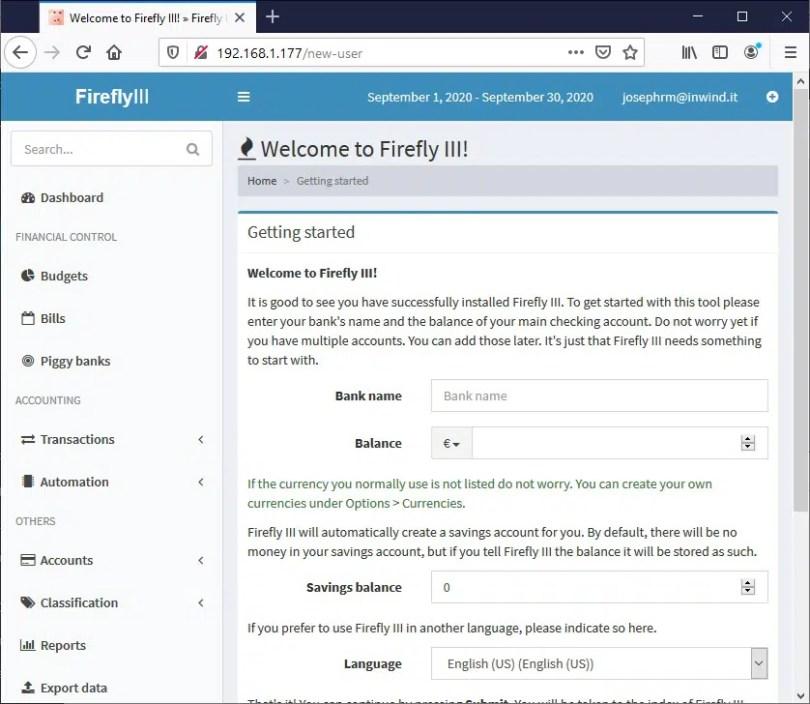 FireFly III home page