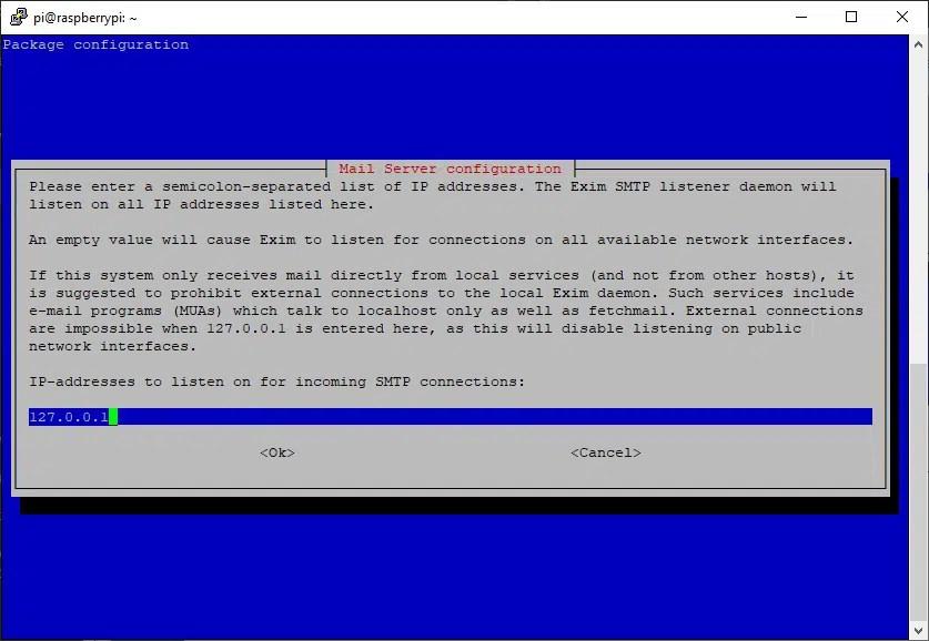 exim configuration IP binding