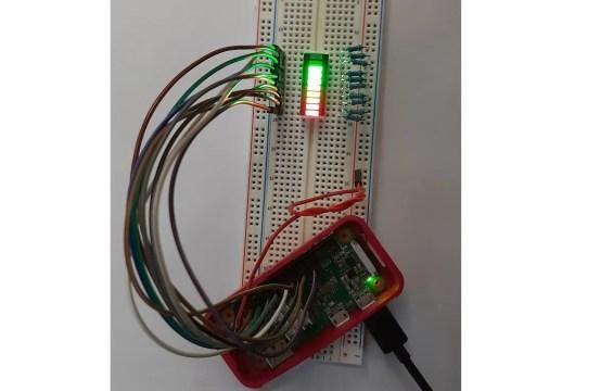 Raspberry PI 10 segment led bar featured image