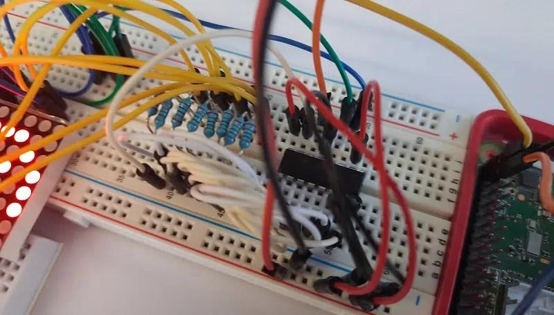 Raspberry PI 8x8 led matrix detail 3