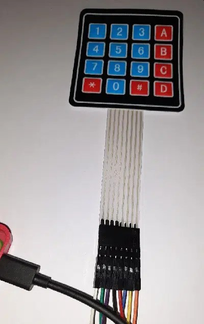 Raspberry pi 4x4 matrix keypad cabling