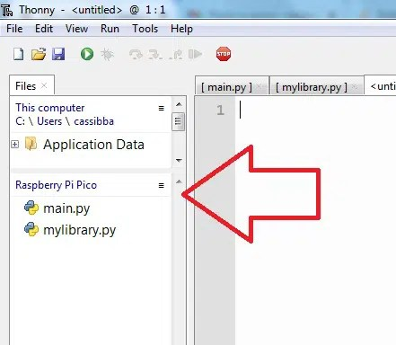 Thonny view files menu