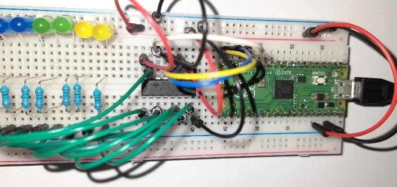 Raspberry PI Pico 74hc595 shift register details 04