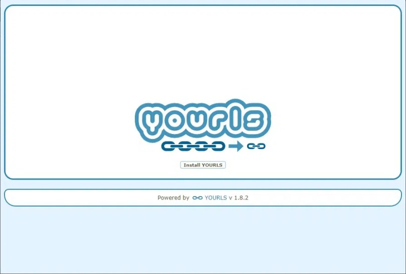 raspberry pi yourls install page